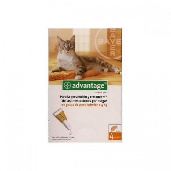 Advantage Gato Sol Uncao 0,4ml X 4 =<4kg