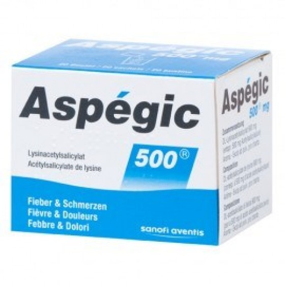 Aspegic 500, 900 mg x 20 pa³ sol oral saq